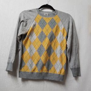 Old Navy Women's Gray Diamond Pattern Sweater SZ L